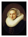 Cornelia Pronck, Wife of Albert Cuyper, Merchant, Aged 33, Painted 1633 Giclee Print by  Rembrandt van Rijn
