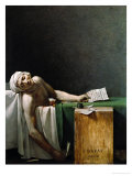 Jean Paul Marat, Politician, Dead in His Bathtub, Assassinated by Charlotte Corday, 1792 Giclee Print by Jacques-Louis David