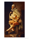 The Hurdy-Gurdy Player, circa 1638-1630 Giclee Print by Georges de La Tour