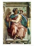 The Sistine Chapel; Ceiling Frescos after Restoration, the Prophet Isaiah Giclée-Druck von  Michelangelo Buonarroti