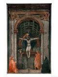 The Holy Trinity, Fresco Giclée-tryk af Masaccio,
