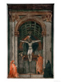 The Holy Trinity, Fresco Giclee Print by Masaccio 
