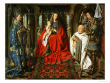 Madonna Adored by the Canonicus Van Der Paele Giclee Print by Jan van Eyck