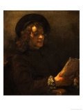Titus Van Rijn, the Painter's Son, Reading, 1656-57 Giclee Print by  Rembrandt van Rijn