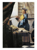 The Painter and His Model as Klio Giclee Print by Jan Vermeer