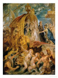 Reception of the Newly Married Mari De'Medici in the Harbour of Marseille Giclee Print by Peter Paul Rubens