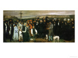 Funeral at Ornans, France, 1849 Reproduction procédé giclée par Gustave Courbet