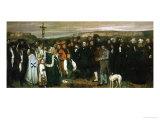 Gustave Courbet - Funeral at Ornans, France, 1849 Digitálně vytištěná reprodukce