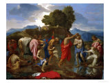 Baptism, Christ Baptized by Saint John Giclee Print by Nicolas Poussin