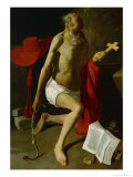 Penitence of Saint Jerome (Also Called Saint Jerome with Cardinal's Hat) Giclee Print by Georges de La Tour