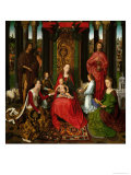 Sacra Conversazione, Altarpiece of St. John the Baptist and St. John the Evangelist, 1474-79 Giclee Print by Hans Memling