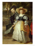 Self-Portrait with His Second Wife Helene Fourment in the Garden Giclee Print by Peter Paul Rubens