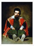 The Court Jester Don Sebastian De Morra, 1643-1644 Gicléedruk van Diego Velázquez