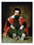 The Court Jester Don Sebastian De Morra, 1643-1644 Giclee Print by Diego Velázquez