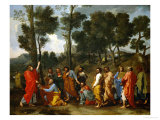 Christ Handing the Keys to Saint Peter Giclee Print by Nicolas Poussin