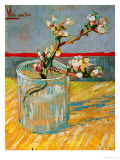 Blossoming Almond Branch in a Glass, March 1888 Stampa giclée di Vincent van Gogh