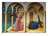 The Annunciation, Florence, (Around 1450) Lmina gicle por Fra Angelico