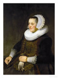 Female Portrait (Woman Looking at Her Husband) Giclee Print by  Rembrandt van Rijn