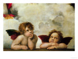 The Two Angels Reproduction procédé giclée par Raphael