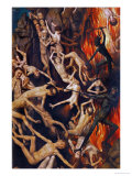 Triptych with the Last Judgement, Right Wing, Detail: Casting the Damned into Hell, 1467-71 Giclee Print by Hans Memling