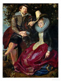 Rubens and His Wife Isabella Brant in the Honeysuckle Giclee Print by Peter Paul Rubens