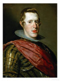 Philip IV (1621-1665) in Armour with General's Sash Giclee Print by Diego Velázquez