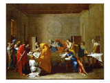 The Extreme Unction, from the Series of the Seven Sacraments, Before 1642 Giclee Print by Nicolas Poussin