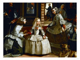 Las Meninas (The Maids of Honour), Detail Gicl&#233;e-Druck von Diego Vel&#225;zquez