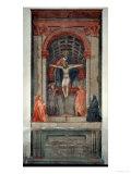 Trinita, 1427, Fresco Giclée-tryk af Masaccio