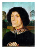 Male Portrait with Landscape, 1470 Giclee Print by Hans Memling
