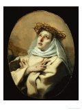 Saint Catherine of Siena, Around 1746 Giclée-tryk af Giovanni Battista Tiepolo
