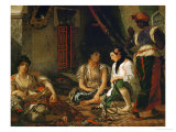 The Women of Algiers in Their Apartment Giclee Print by Eugene Delacroix