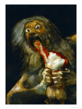 Saturn Devouring One of His Sons, Detail, from the Series of Black Paintings Giclee Print by Francisco de Goya