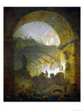Gallery in Ruins, 1798 Giclee Print by Hubert Robert