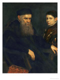 Old Man and Boy, Around 1565 Giclee Print by Jacopo Robusti Tintoretto