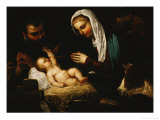 The Holy Family Giclee Print by Jacopo Robusti Tintoretto