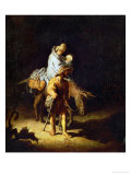 Flight into Egypt Giclee Print by Rembrandt van Rijn