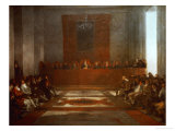 King Philip IV of Spain (1605-1665) Opening the Junta of the Philippines Giclee Print by Francisco de Goya