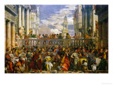 The Wedding at Cana, Photograph Before Restoration Giclée-tryk af Paolo Veronese