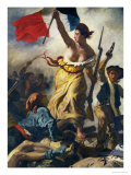 July 28th 1830, Liberty Guiding the People, Detail Reproduction procédé giclée par Eugene Delacroix