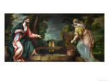 Christ and the Samaritan Woman at the Well, circa 1580 Giclée-tryk af Paolo Veronese