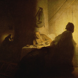 Christ at Emmaus Gicledruk van Rembrandt van Rijn