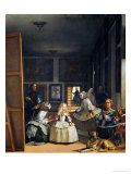 Las Meninas (With Velazquez&#39; Self-Portrait) or the Family of Philip IV, 1656 Giclee Print by Diego Vel&#225;zquez