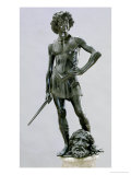 David with the Head of Goliath, Bronze Sculpture Giclee Print by Andrea del Verrocchio