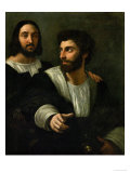 Raphael (Self-Portrait) and His Fencing Master Reproduction proc&#233;d&#233; gicl&#233;e par Raphael 