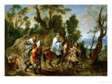 And Jan Wildens: Act of Devotion by Rudolf I of Habsburg Giclee Print by Peter Paul Rubens