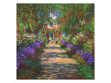 The Artist&#39;s Garden at Giverny, 1902 Giclee Print by Claude Monet