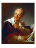 Denis Diderot, French Writer Reproduction procédé giclée par Jean-Honoré Fragonard