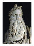 Moses (Detail), from the Tomb of Pope Julius II Rovere, in San Pietro in Vincoli, Rome Giclee Print by  Michelangelo Buonarroti