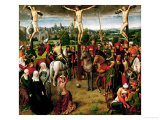 The Crucifixion, Central Panel of a Triptych Giclee Print by Hans Memling